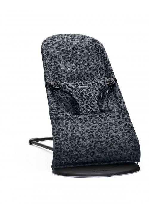 BabyBjörn LEHÁTKO BOUNCER BLISS  Bliss Anthracite/Leopard Mesh SOFT Collection